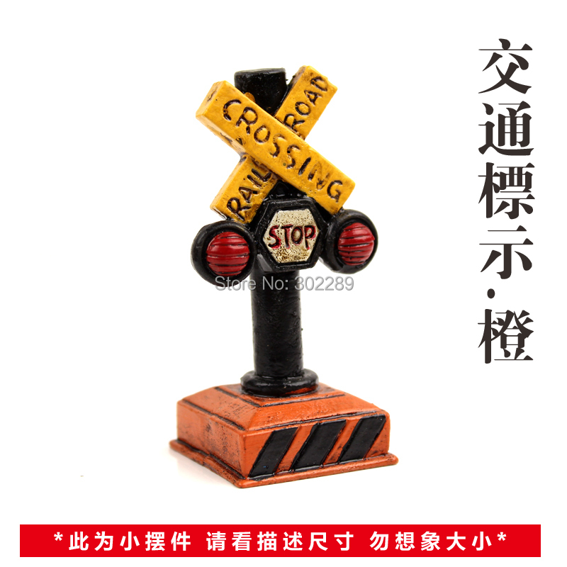 Resin Vintage traffic sign decoration(China (Mainland))