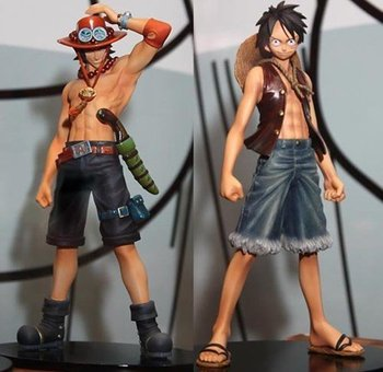 New arrive Japan anime one piece Monkey.D.Luffy Portagas D Ace pvc figure set,For Christmas toys gifts