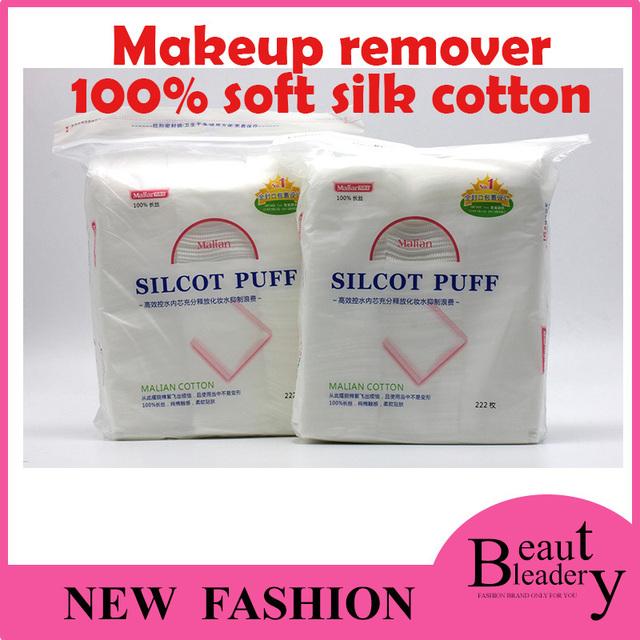 100% мягкий очищающий Шелкcot хлопок пуховкой 222 шт./упак. для снятия макияжа с ...