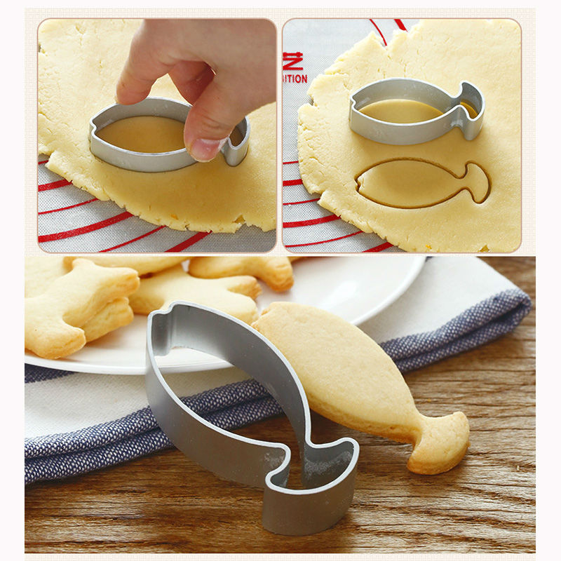 Hot sale cute small fish shaped cake cookie decorating for Fish shaped cookie cutters