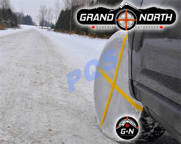 Углеродной ткани цепи противоскольжения текстильной шина шины для автомобилей в зимний международный уполномоченным по сертификации TUV бесплатная доставка