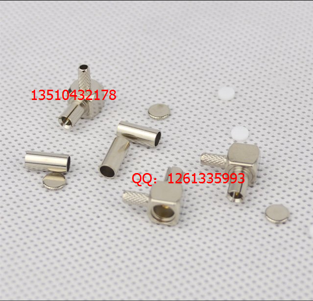 Free shipping 10p / lot TS-9 all-copper access test head RG316 cable TS-9 male bend(China (Mainland))