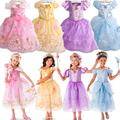 2017 Summer Style My Little Girls Pony Flower Party Dresses Kids Pearl Girl ShortSleeve Cartoon Rainbow Chiffon Princess Dress