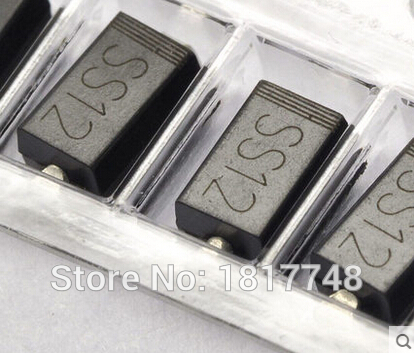 Free shipping 100 PCS SS12 DO-214AC 1N5817 SMD DIODE 1A SURFACE MOUNT SCHOTTKY(China (Mainland))