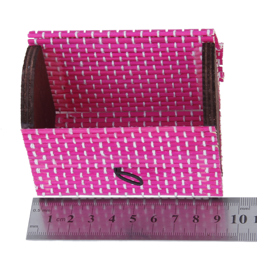 Fashion Candy Color Lidded Bamboo Jewelry Cosmetic Makeup Storage Basket Hamper Box Case Jewelry Packaging