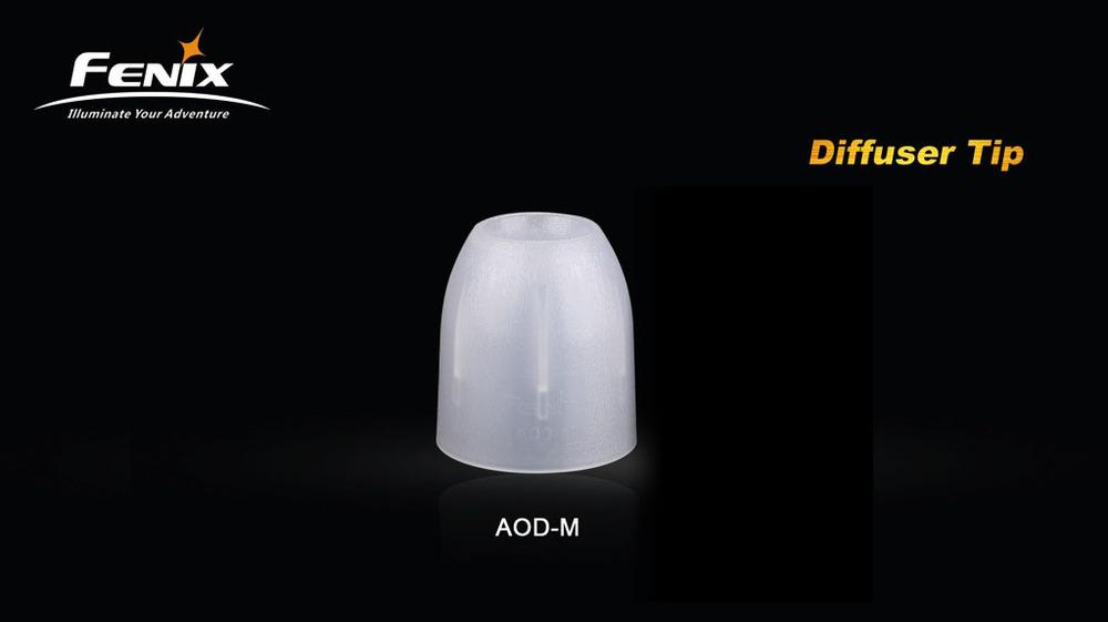 Free Shipping Fenix AOD-M Diffuser Tip for LED Flashlight White TK11, TK15, TK20, TK21, TK22, E50, RC10, RC15(China (Mainland))