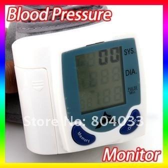 АК 8шт портативный Домашний цифровой монитор артериального давления и наручные часы Сенсер сердце биться метр тестер ЖК-дисплей 60memories