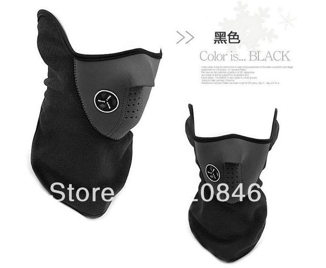 Free shipping 10pcs/lot  Promotion Price Winter Sports black color motorcycle winter mask neck warmer