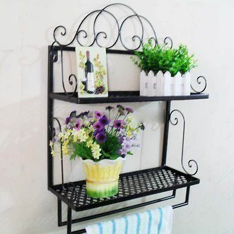 Wrought Iron Bathroom Shelf My Web Value - Wrought iron bathroom wall shelves
