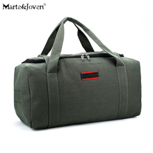 Buy Durable Large Capacity Canvas Hand Travel Bag Men Women Pure Color Portable Weekend Casual Travel Duffle Shoulder Luggage Bags for $27.69 in AliExpress store