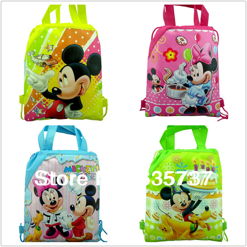 4Pcs Mickey mouse backpack Kids School Bags ,shopping bag ,party favor,children backpacks mochilas(China (Mainland))