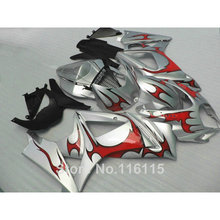 Buy ABS full fairing kit fit for SUZUKI GSX-R 1000 2007 2008 K7 K8 red flames in silver fairings set 07 08 GSXR1000 JS68 for $297.00 in AliExpress store