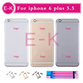 DHL 50pcs High Quality For iphone 6 plus 5 5 Rear Back Housing Cover Metal Frame