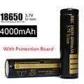 20pcs lot For Flashlight 18650 3 7V Battery Li Ion Bateria 4000mah With Protection Board Battery