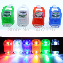 1pcs Mini Waterproof Silicone mountain Bike Light Cycling Beetle Warning lights Front Rear Tail Lamp Bicycle