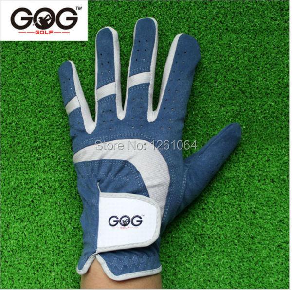 2016 New Breathable Blue Soft Fabric Golf Glove Left Hand Super Fine Cloth Golf Glove Sports Glove(China (Mainland))