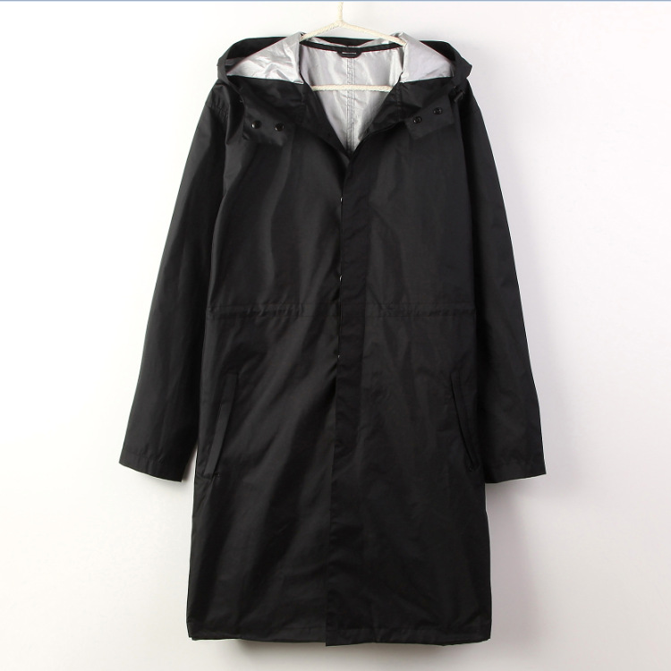 2016 Fashion WPC Black/Blue Raincoat Men Transparent Rain Poncho Coat Jackets Chubasqueros Impermeables(China (Mainland))