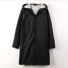 2016 Fashion WPC Black/Blue Raincoat  Men Transparent Rain Poncho Coat Jackets  Chubasqueros Impermeables(China (Mainland))