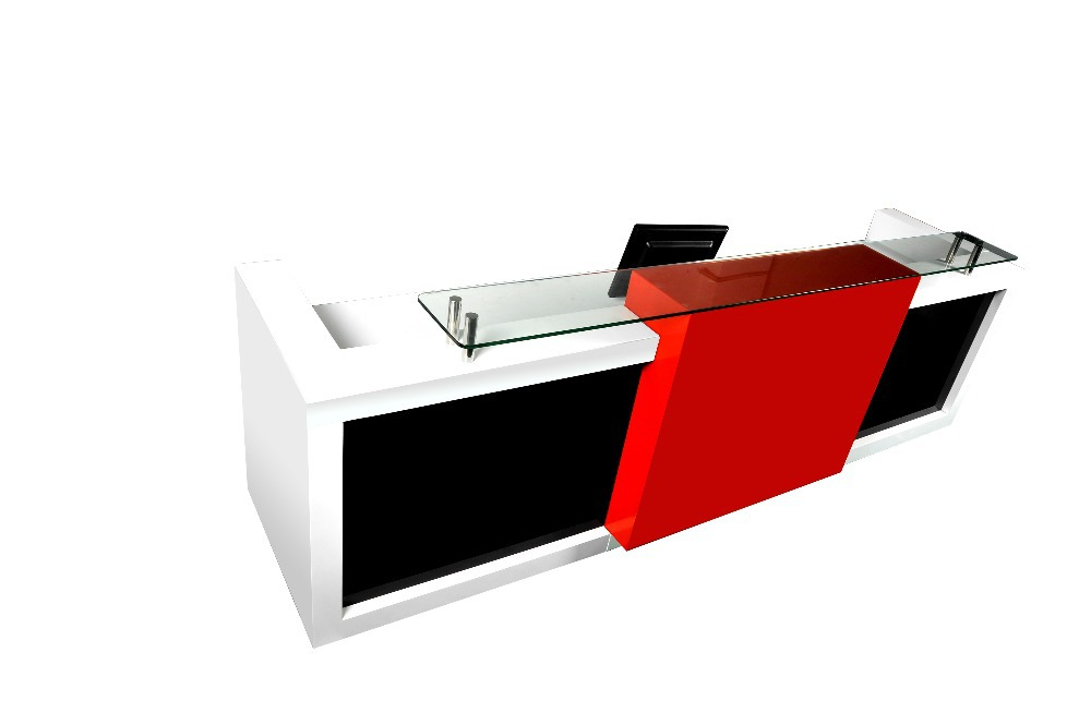 front office counter furniture customized 3m long popular and fancy elegant display office front reception desk bow front reception counter office reception desk