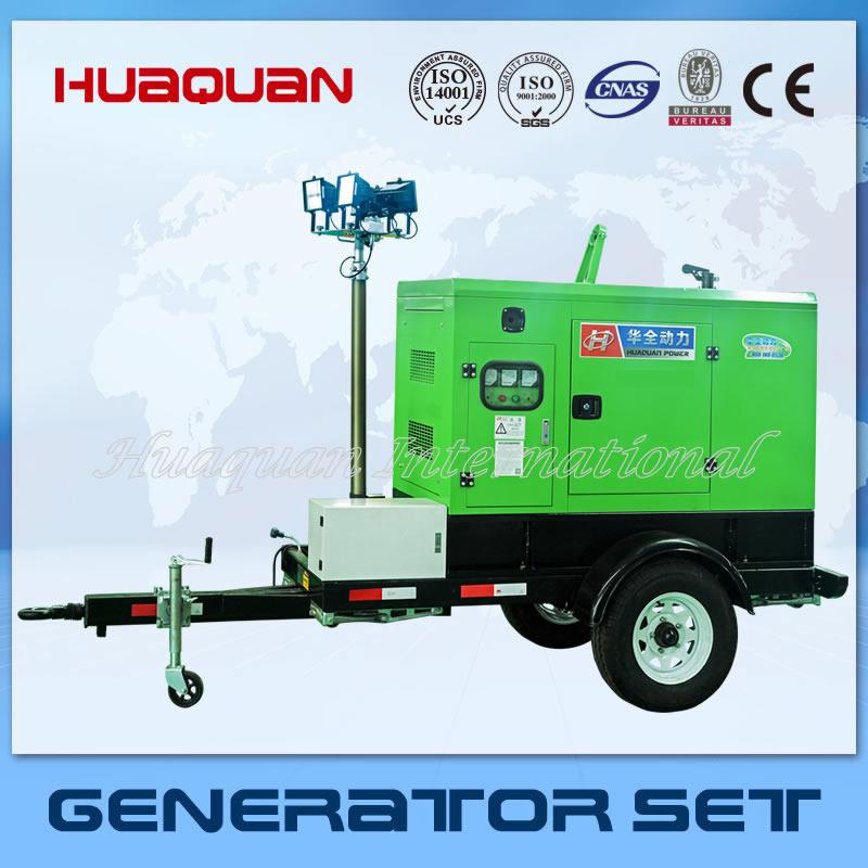 Mobile lighting tower generator set 4*1000 lamp equipment(China (Mainland))