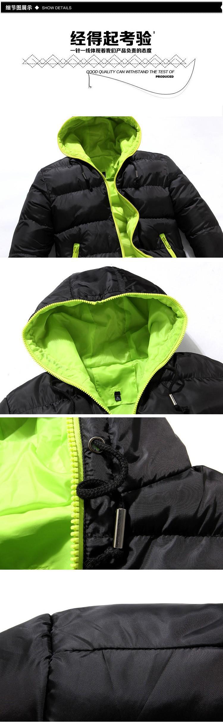 вниз куртка Новая зимняя куртка мужчины толстые теплый с капюшоном 3 цвета вниз куртка куртка размер: m, l, xl, xxl