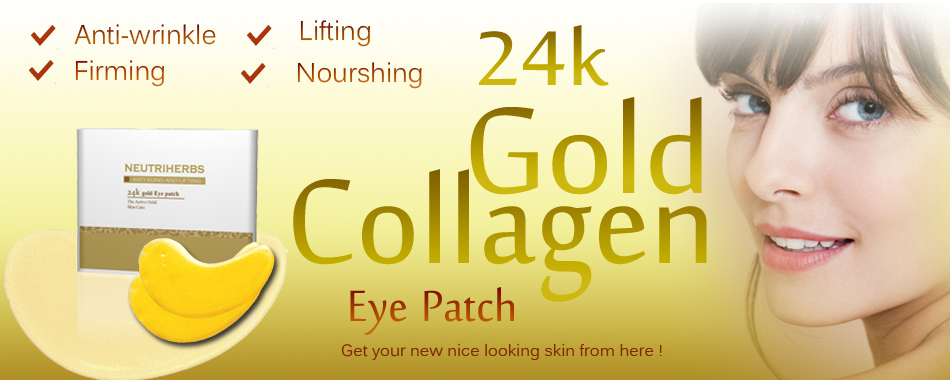 24K Gold HA Eye Mask for Hydrating and Moisturizing 25pcs/pack Free Shipping by Singapore Post Air Parcel(China (Mainland))