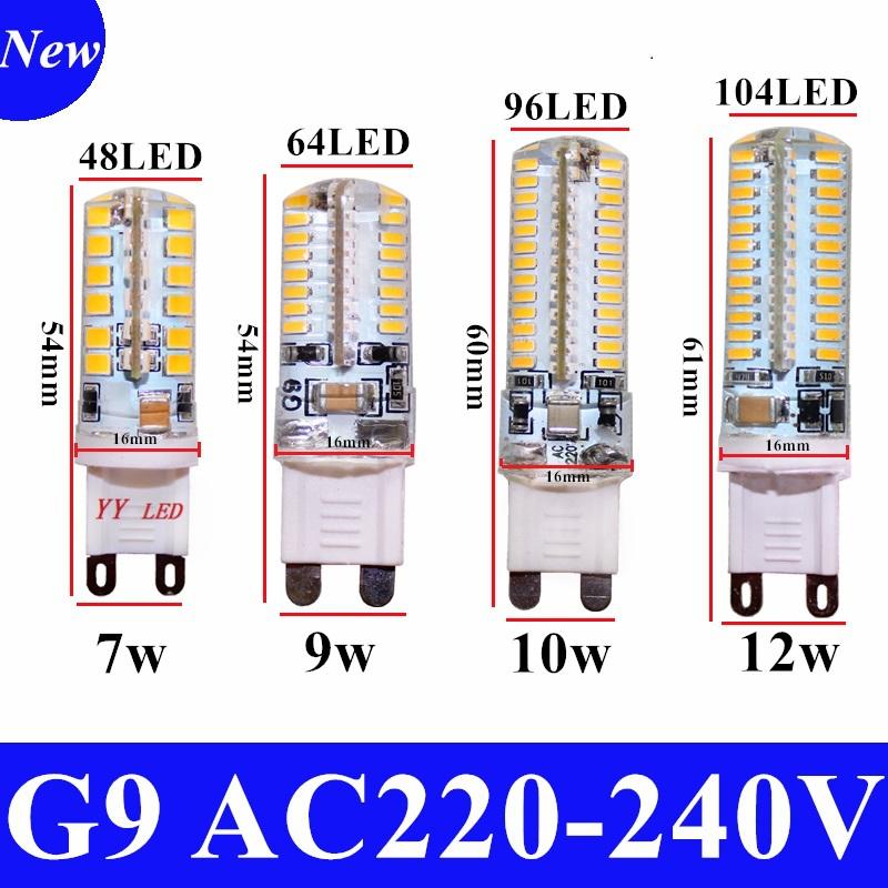 2015 Cree Hot Sale LED lamp G9 corn Bulb AC 220V 7W 9W 12WSMD 2835 3014 LED light 360 degrees Beam Angle spotlight lamps bulb(China (Mainland))
