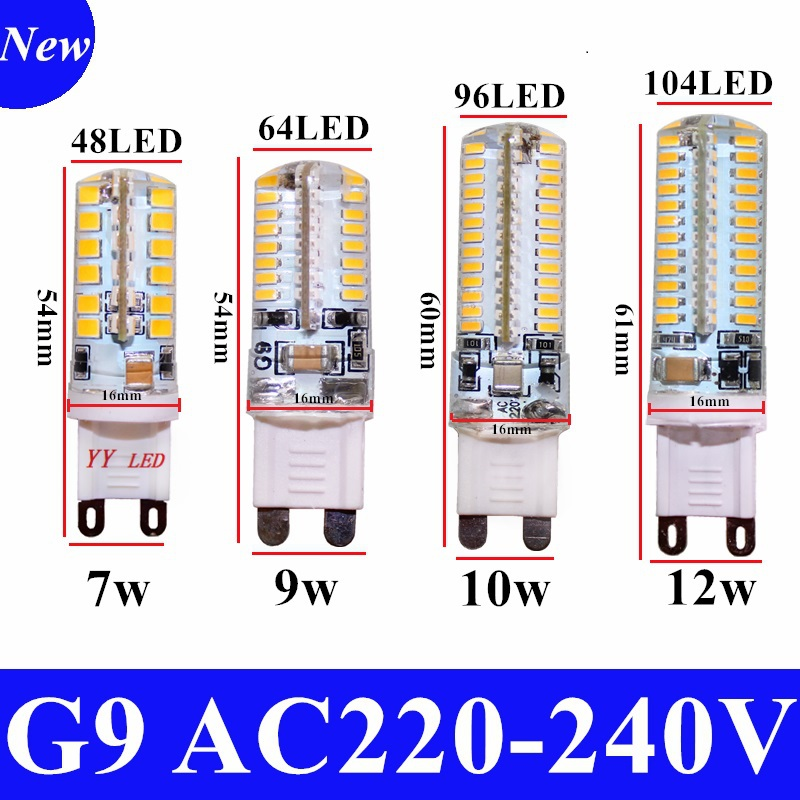 2016 Cree Hot Sale LED lamp G9 corn Bulb AC 220V 7W 9W 12WSMD 2835 3014 LED light 360 degrees Beam Angle spotlight lamps bulb(China (Mainland))
