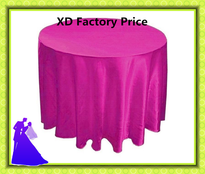 10pcs/lot free shipping hot selling satin round table cloth for wedding decoration(China (Mainland))