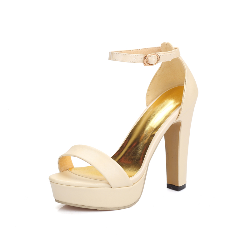 big sale Fashion Women spike high heels Shoes sexy Open Toe ankle strap Party Wedding lady Platform Sandals Woman(China (Mainland))
