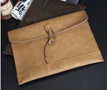 100% Genuine leather crazy horsehide business famous brands briefcase bag luxury vintage Refinement High men envelope v4g90(China (Mainland))