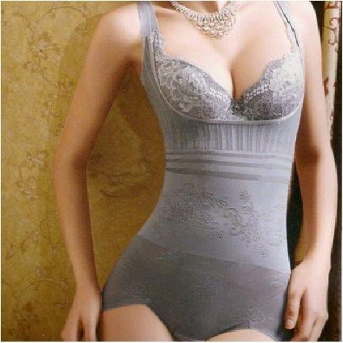 EMS Free Shipping Top Quality Seamless Body Shaper/One-Piece Shape Wear for Women/ Nylon90%+Spandex10%/ Gray Skin Black/UD-032Îäåæäà è àêñåññóàðû<br><br>