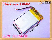 Buy lithium Tablet polymer battery 383759 3.7v lipo battery 900mah GPS DVD player for $5.91 in AliExpress store