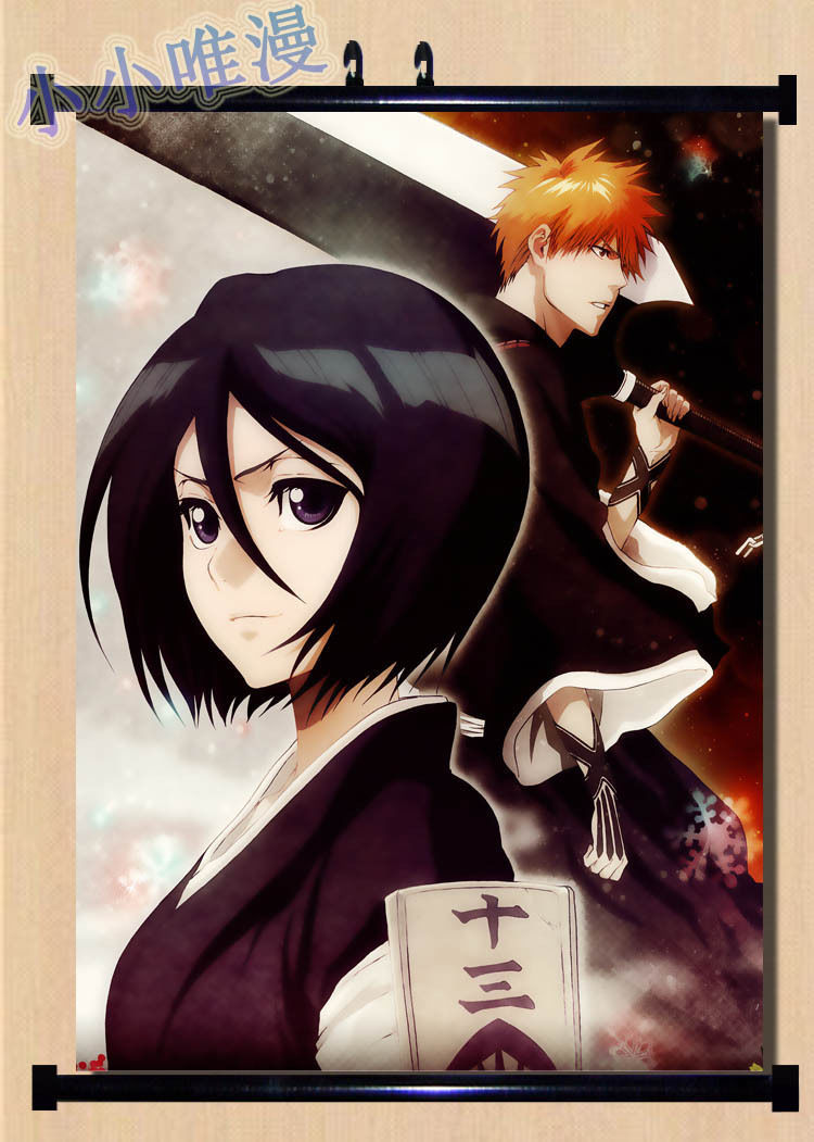 Home Decor Japa Anime Wall poster Scroll bleach kuchiki Rukia kurosakilchigo(China (Mainland))