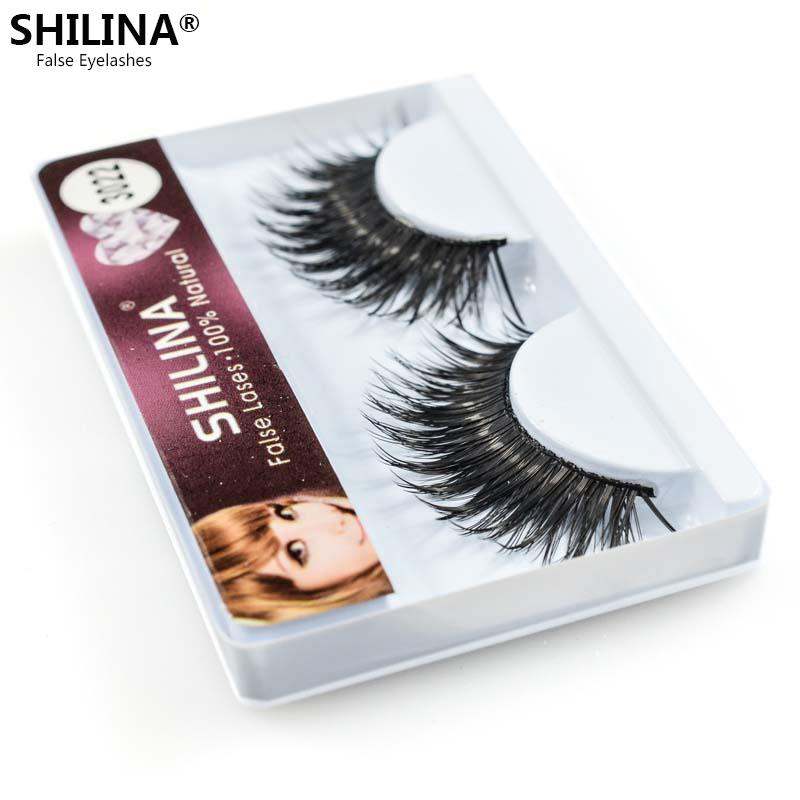 SHILINA New 1 Pair Hand Made Natural False Eyelashes Thick Lashes Long Eye Brand Makeup 3022  -  Professional Trade Co., Ltd. store
