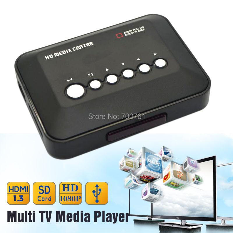 1080P Full HD SD/MMC TV Videos SD MMC RMVB MP3 Multi TV USB HDMI Media Player with Remote Control(China (Mainland))
