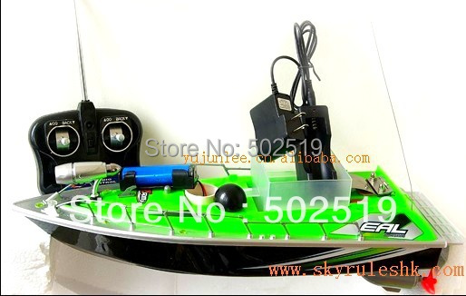 wholesales Rc bait fishing boat Working distance 200m +car charger Green(China (Mainland))