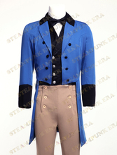 Jazz Cloth Double-breasted Mens Steampunk Tailcoat