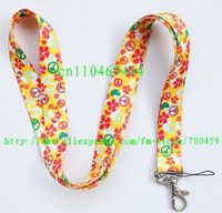 1pc Peace sign mobile Phone card lanyard neck straps gifts