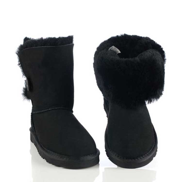 Free shipping 5803 Australia classic singel button waterproof cowhide genuine leather snow boots winter shoes for women(China (Mainland))