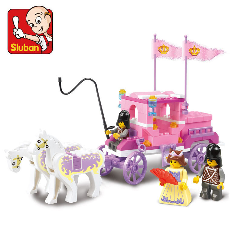 Sluban Royal Carriage Wagon Building Blocks Princess Minifigures Girl Kids Brick Toys Compatible with legoe C0A119<br><br>Aliexpress