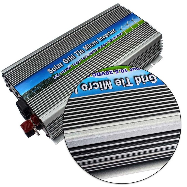 1000W on grid tie solar power micro inverter pure sine wave DC10.5-28V to 220V AC 1kw grid tie inverter for 18V 1250W PV Power(China (Mainland))