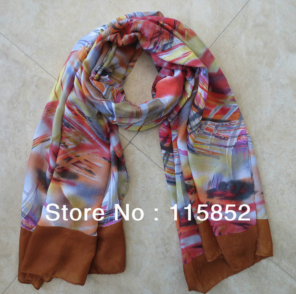 2014 new design spring winter warm scarves Chinese ink painting fashoin cotton scarf j-2517 - Fashion Joya Store store