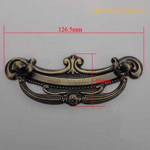 furniture handle Antique Brass zinc alloy cabinet handle size 126.5X48mm --96mmc-c(China (Mainland))