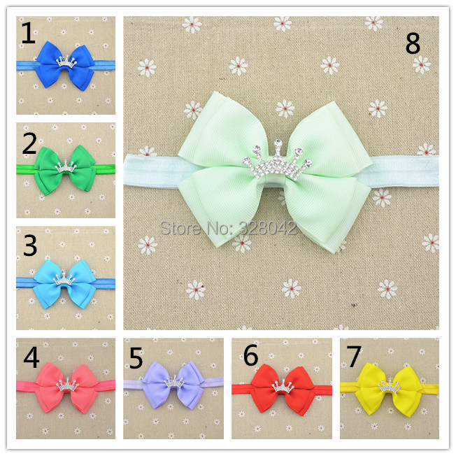 Baby Crown bowknot Bow Headband, Infant Headband, Toddler Headband, Two layers of bowknot 1pcs/lot