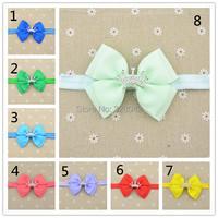 Baby  Crown bowknot  Bow Headband, Infant Headband, Toddler Headband,  Two layers of bowknot  1pcs/lot