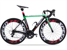 VISP 20/22 speed carbon fiber road bike  ULTIGRA and 105 Transmission system shift kit version Competitive road race(China (Mainland))