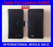 Lenovo A3600 Case New 2015 items Factory Price Flip Leather Cover For Lenovo A3600 Case+tracking number