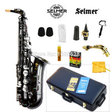 Free shipping EMS New France Selmer Alto Saxophone 54 Professional E Black Pearl Sax mouthpiece With Case and Accessories(China (Mainland))
