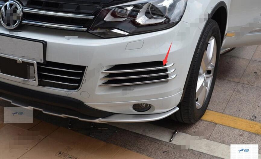 Фотография More fashion! For Volkswagen Touareg 2011-2013 Front Fog Light Lamp side Grille Cover Trims
